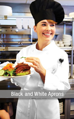 Black and White Aprons