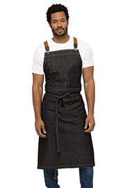 Berkeley Chefs Bib Apron: Black Denim