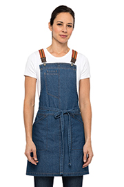 Berkeley Women's Petite Bib Apron: Medium Blue