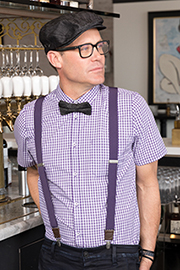 Gingham Mens Short-sleeve Shirt