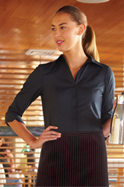 Womens Finesse 3/4-Sleeve Fitted Shirt